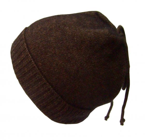 Mütze mit Bändern in der Farbe pacific