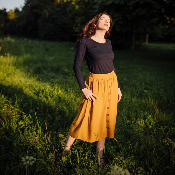 Damen T-Shirt Rundhals langer Arm